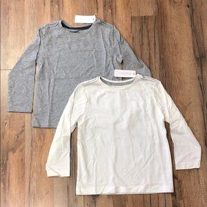 2 Gymboree Basic Long Sleeve Cotton Tees NWT